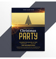 luxury golden christmas party flyer template vector image vector image