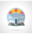 Parachuting color detailed icon