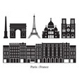 paris france building landmarks silhouette vector image
