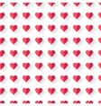 Pink abstract Valentines heart pattern vector image