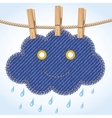 Rain cloud on a clothesline vector image vector image