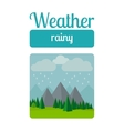 Rainy weather vector image vector image