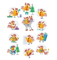 Rooster Birds Set Chinese Zodiac Horoscope vector image vector image