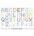 Rounded pixel art alphabet font in pastel colors vector image vector image