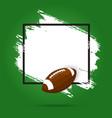 rugfootball american sport ball and tournament vector image vector image