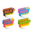 sale banners template hot price tag bubbles vector image vector image