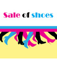 sale shoes on a colored background vector image