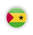 Sao Tome and Principe icon circle vector image