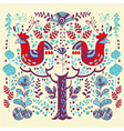 scandinavian style animal and floral vector image vector image