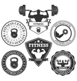 set of logos fitness vector image vector image