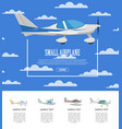 small airplane poster with propeller aircrafts vector image vector image