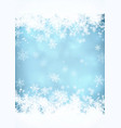 snow blurred background vector image