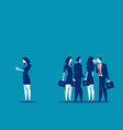 society at work business person separated from vector image