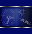 steering wheel bearing and bolt vector image vector image