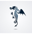 Stylized dragon on white background vector image