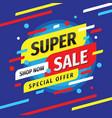 super sale discount - layout concept vector image vector image