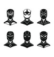superhero concept set in black simple style vector image vector image