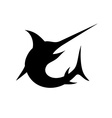 Swordfish isolated black silhouette vector image vector image