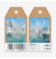 Tags on both sides cardboard sale labels with vector image