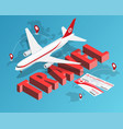 to travel is to live tickets and passenger vector image vector image