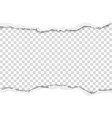 torn hole in sheet of white paper vector image vector image