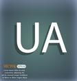 Ukraine sign icon symbol UA navigation On the vector image vector image