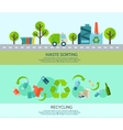 Waste Sorting Banners Set vector image vector image
