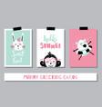 summer card trio vector image