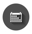 calendar icon on agenda icon in flat style with vector image