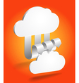 Abstract cloud scheme in perspective vector image vector image
