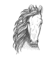 American wild west mustang sketch icon