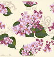 beautiful seamless floral pattern with lilac vector image vector image