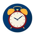 Bedside clock icon in flat style isolated on white vector image