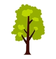 Big green tree icon flat style vector image vector image