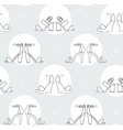 Black and white with sandals vector image vector image