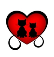 black cats in love vector image vector image