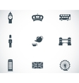 black london icons set vector image vector image