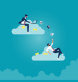 business technology cloud computing service vector image