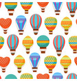 cartoon air baloons seamless pattern background vector image