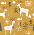 childish seamless pattern with dears trendy vector image vector image