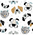 childish seamless pattern with funny creative dog vector image vector image