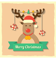 christmas reindeer background vector image vector image
