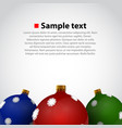 christmas toys background vector image vector image