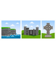 cliffs of moher in county clare malahide castle vector image vector image