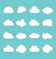cloud icon set on blue background vector image vector image