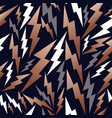 copper thunder seamless pattern background vector image
