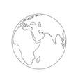 earth logo for your business vector image vector image