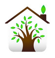 eco house design vector image