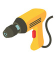 electric drill icon isometric 3d style vector image vector image