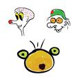 funny head color vector image